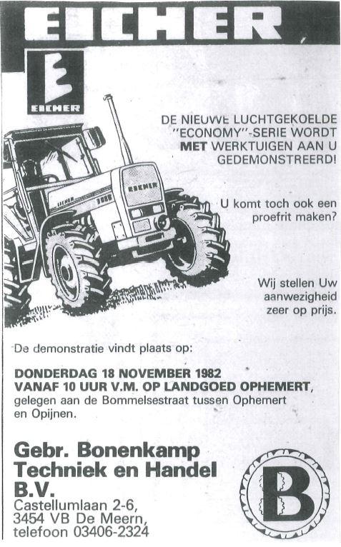 Advertentie 1982 Gebr. Bonenkamp